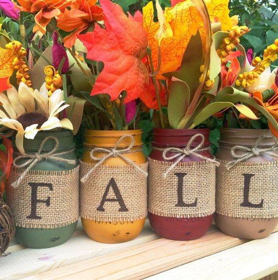 Pinterest Fall Mason Jar Painting Where The Community Comes To
